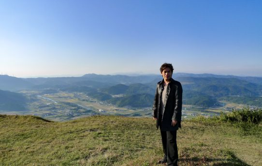 三日月の滝と伐株山