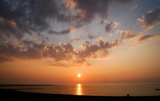 合唱稽古と日本海の夕陽~新潟